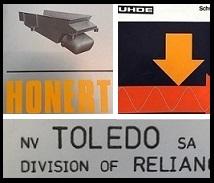 Verdwenen merken Honert, Toledo en UHDE